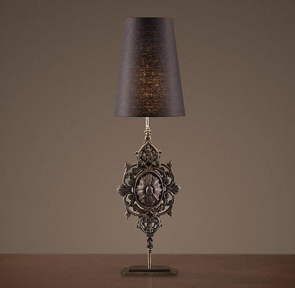 floral medallion baluster table lamp table lighting restoration hardware