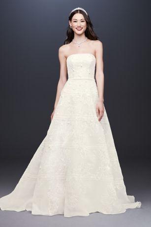 Organza Banded Wedding Dress With Sequin Appliques David S Bridal Wedding Dress Organza Perfect Wedding Dress Sheath Wedding Dress Lace