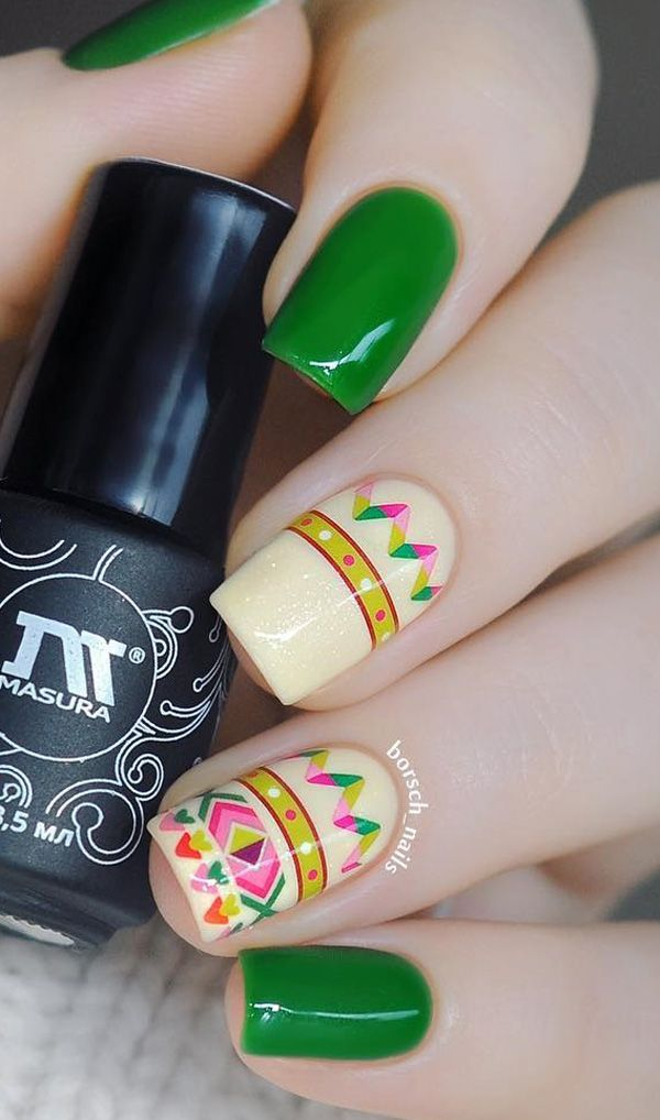 45 Multicolored Nail Art Ideas | Arte de uñas, Colores y Arte
