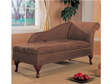 Coaster Accent Seating Microfiber Chaise Lounge With Flip Open Seat In  Brown   550068   Lowest Price Online On All Coaster Accent Seating Microfiber  Chaise ...