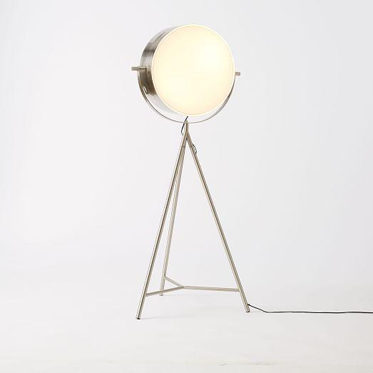 Spotlight Metal Tripod Floor Lamp West Elm Modern