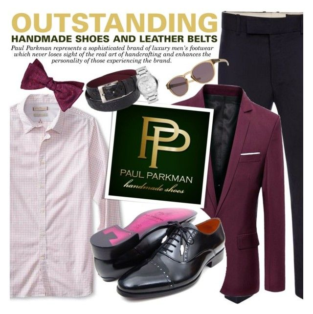 """PAUL PARKMAN - Outstanding handmade shoes and belts for men!"" by anita-n ❤ liked on Polyvore featuring Alexander McQueen, Banana Republic, Penrose London, Oakley and Burberry"