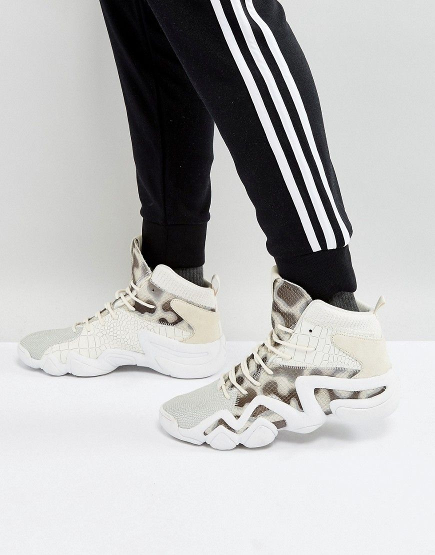 best loved 90b5e 89344 ADIDAS ORIGINALS CRAZY 8 PRIMEKNIT SNEAKERS IN WHITE BY4367 - WHITE.   adidasoriginals  shoes