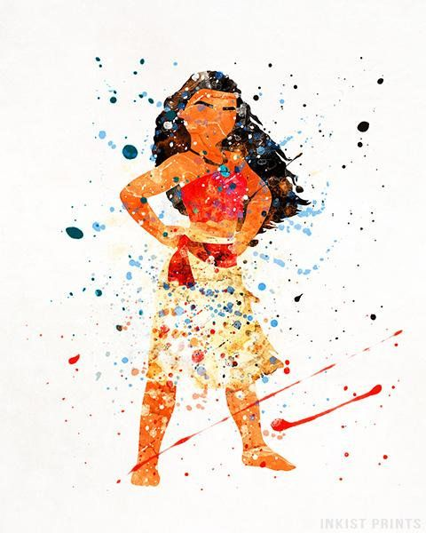 Moana Print, Moana Poster, Disney Princess, Disney Art ...