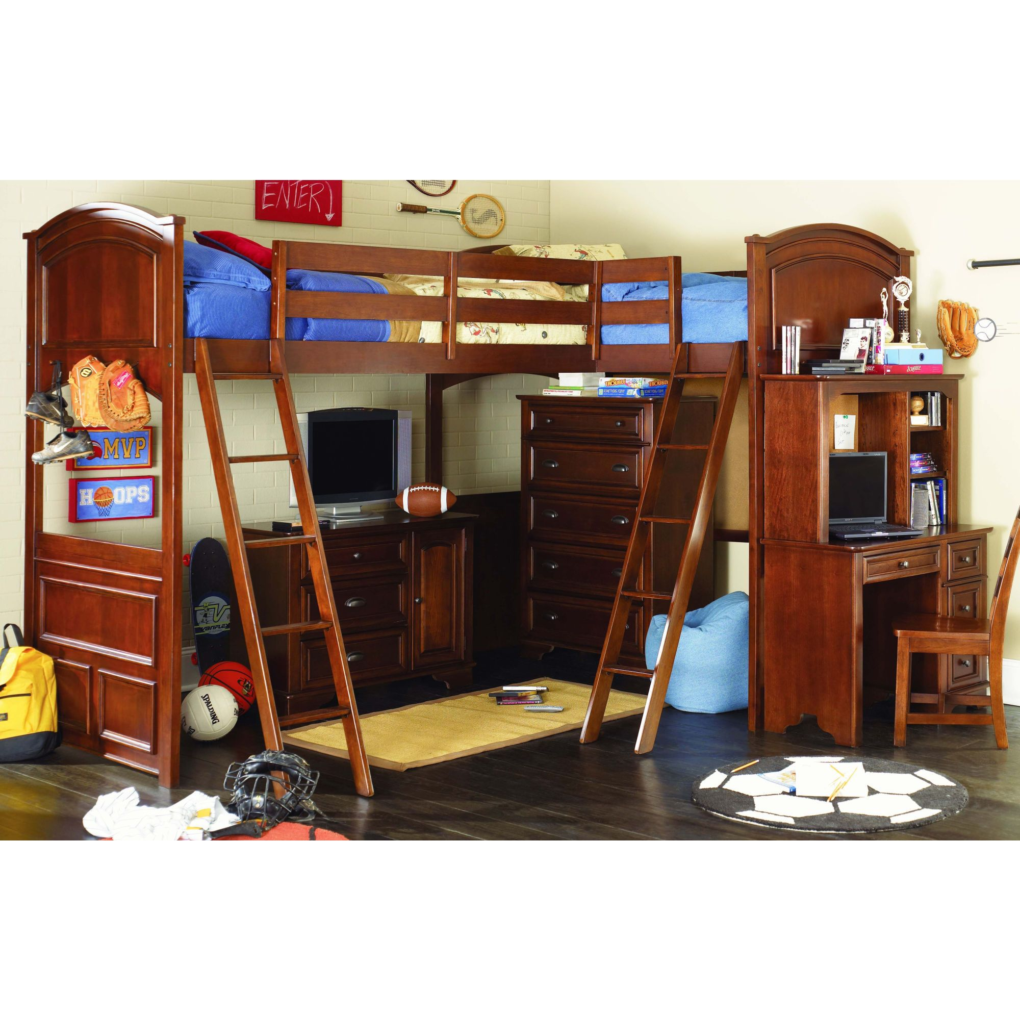 Kids loft bedroom ideas  How fun a double loft bed  YirehuYtzel  Pinterest  Double loft