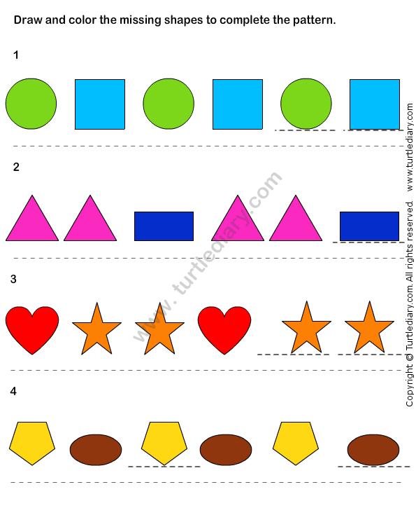 Pattern Match Worksheet29 Math Worksheets Kindergarten Worksheets Pattern Worksheet Coding For Kids Kindergarten Math Worksheets