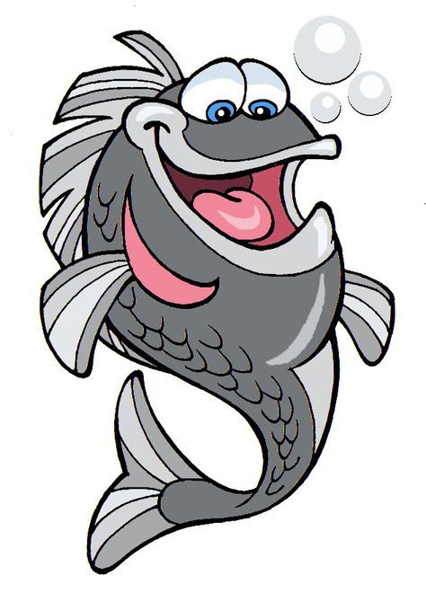 рисунок смешной рыбы процессы, точно