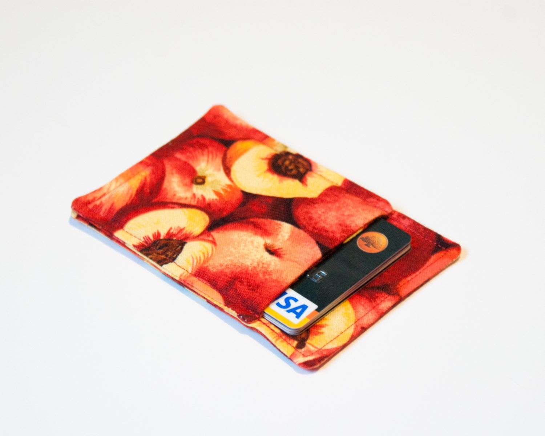 New to Chockrosa on Etsy: Peach Minimalist credit card wallet ...