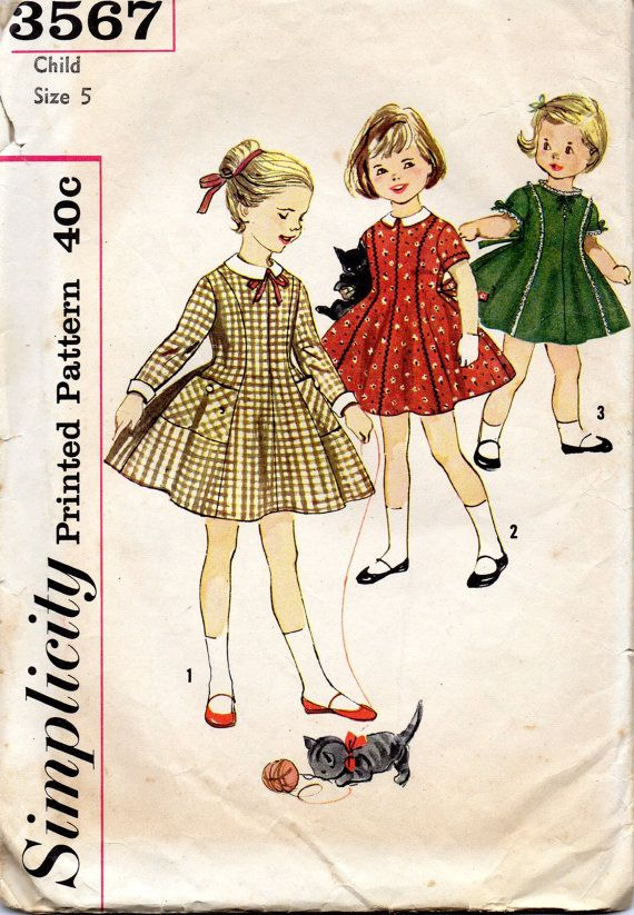 vintage 1960s childs DRESS simplicity sewing by LittleTicket, $9.00 ...