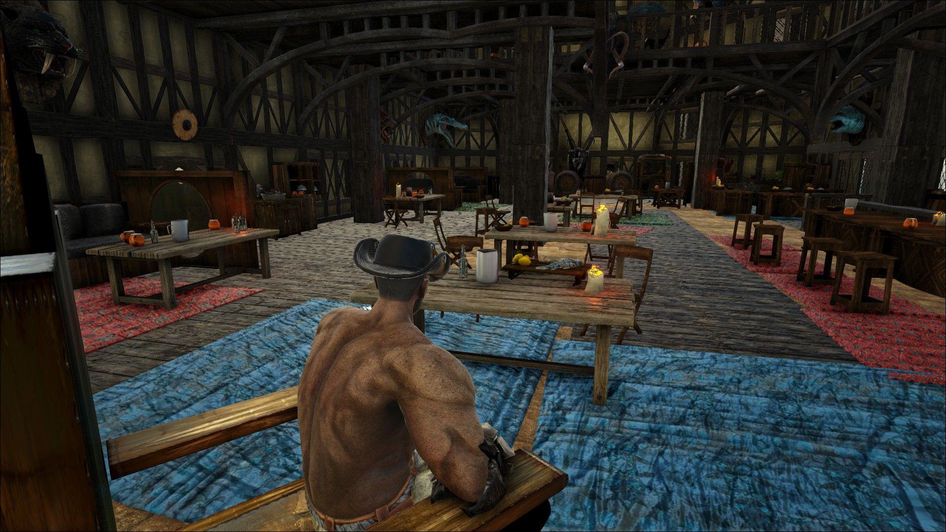 Ark Medieval Castle Base Tavern Design Interior With Images