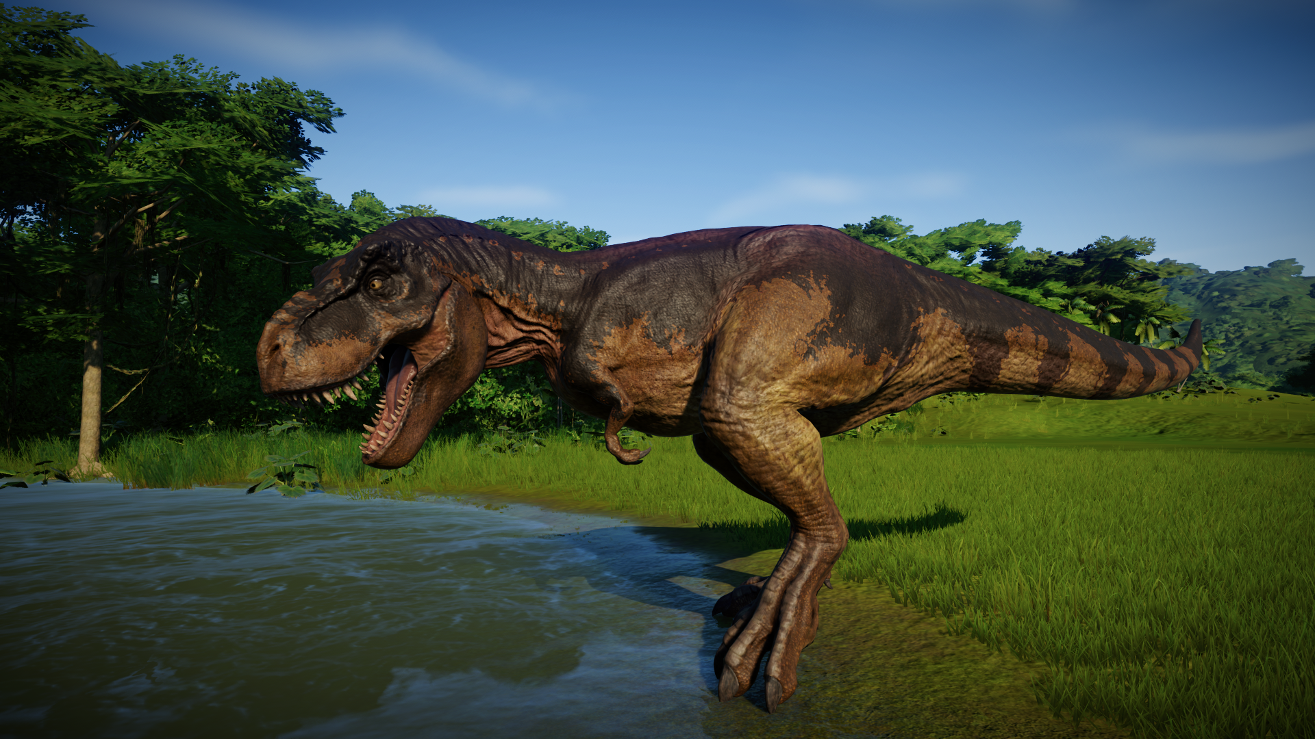 Tyrannosaurus in 2019 Jurassic world, Jurassic park