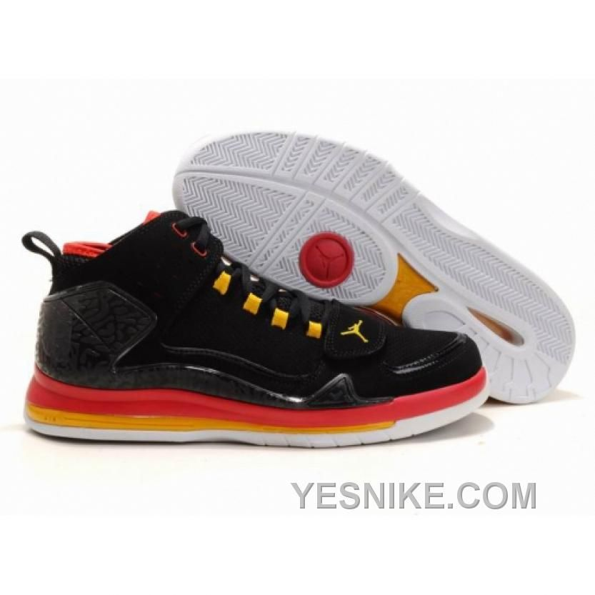 new product 8aef0 ce70b Chaussures Air Jordan Evolution 85 Noir  Rouge  Jaune  nike 10101  - €56.87