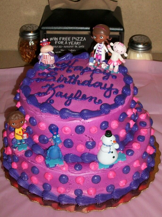 Cake from Publix doc mcstuffins 55 Kaylens Birthday Pinterest
