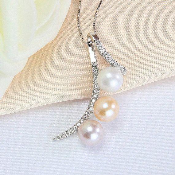 Multi color freshwater pearl pendantsbridal pearl jewelry pendant multi color freshwater pearl pendantsbridal pearl jewelry pendantround pearl pendant necklace aloadofball Choice Image