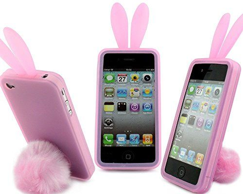 new style 72b8b e1386 Samsung Galaxy S5 Case Back Cover Soft Silicone Cute Lovely Rabbit ...