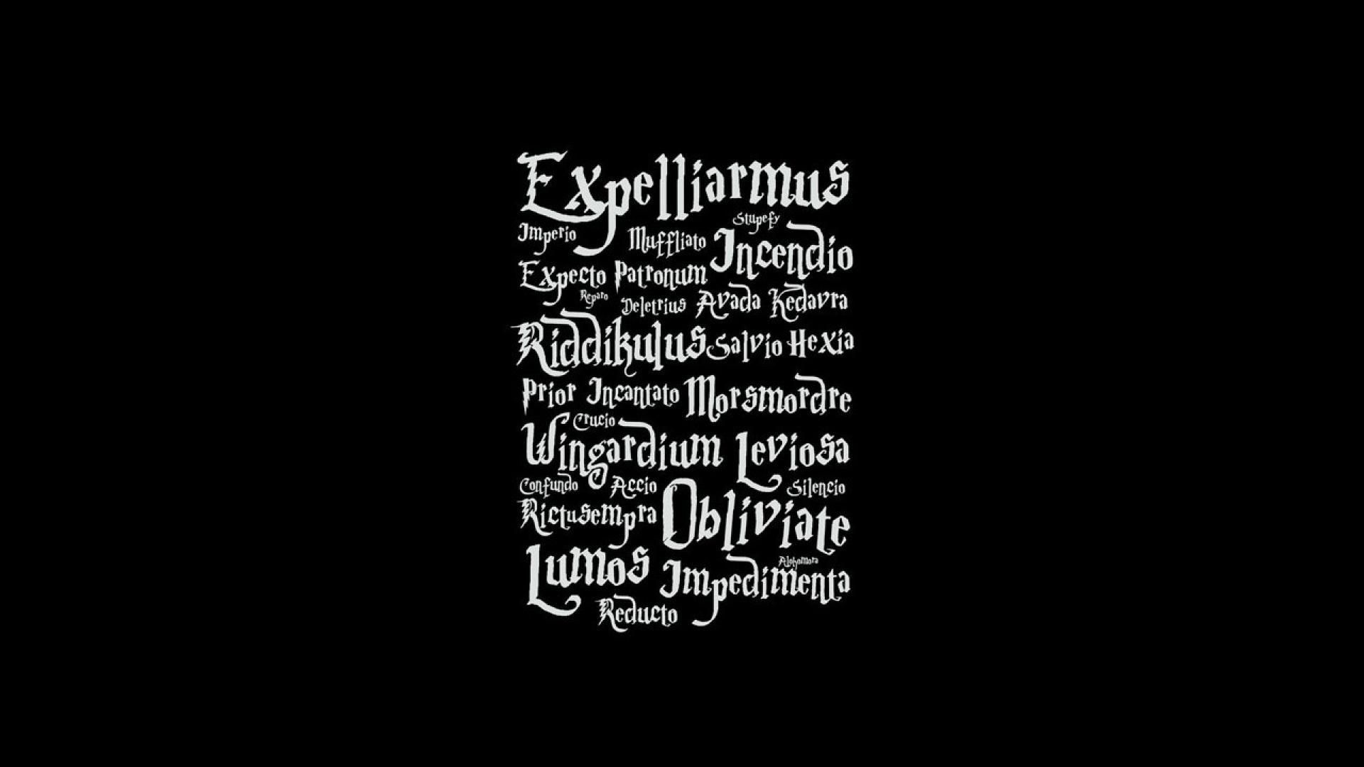 1920x1080 Typography harry potter black background