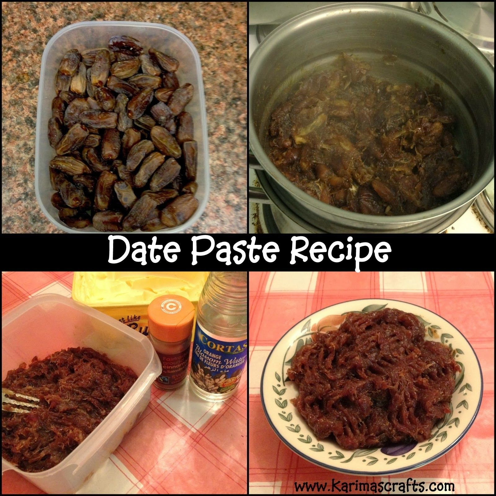 date paste recipe used for maamoul and makrout