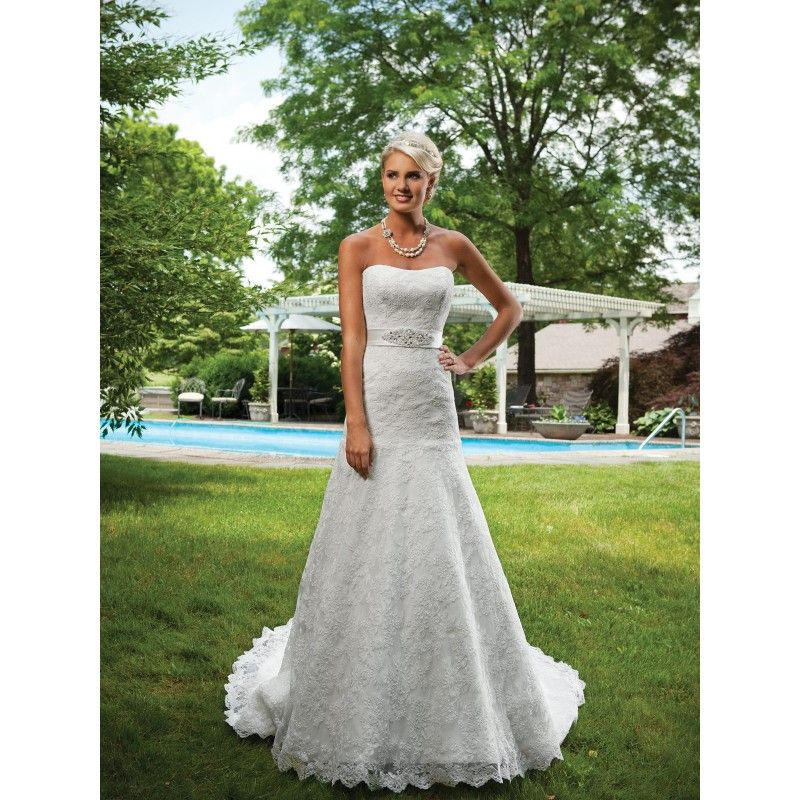 Image Detail For Strapless Spring Wedding Dresses Lace White Dress Romantic