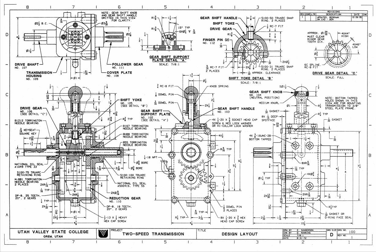 Ship Technical Drawing