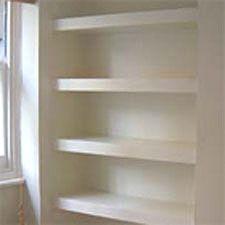 Alcove floating shelves DIY | Floating shelves living room ...