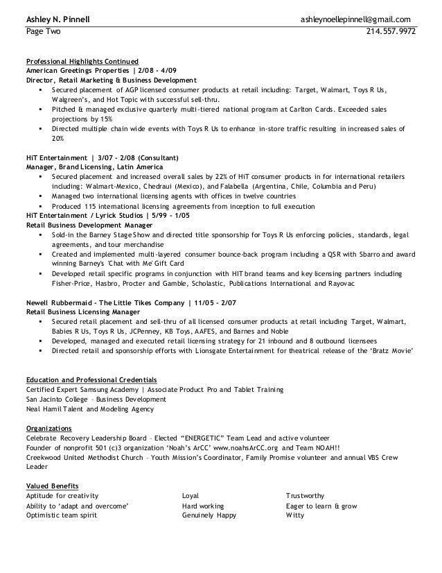 Toys R Us Resume Examples Resume Examples In 2020