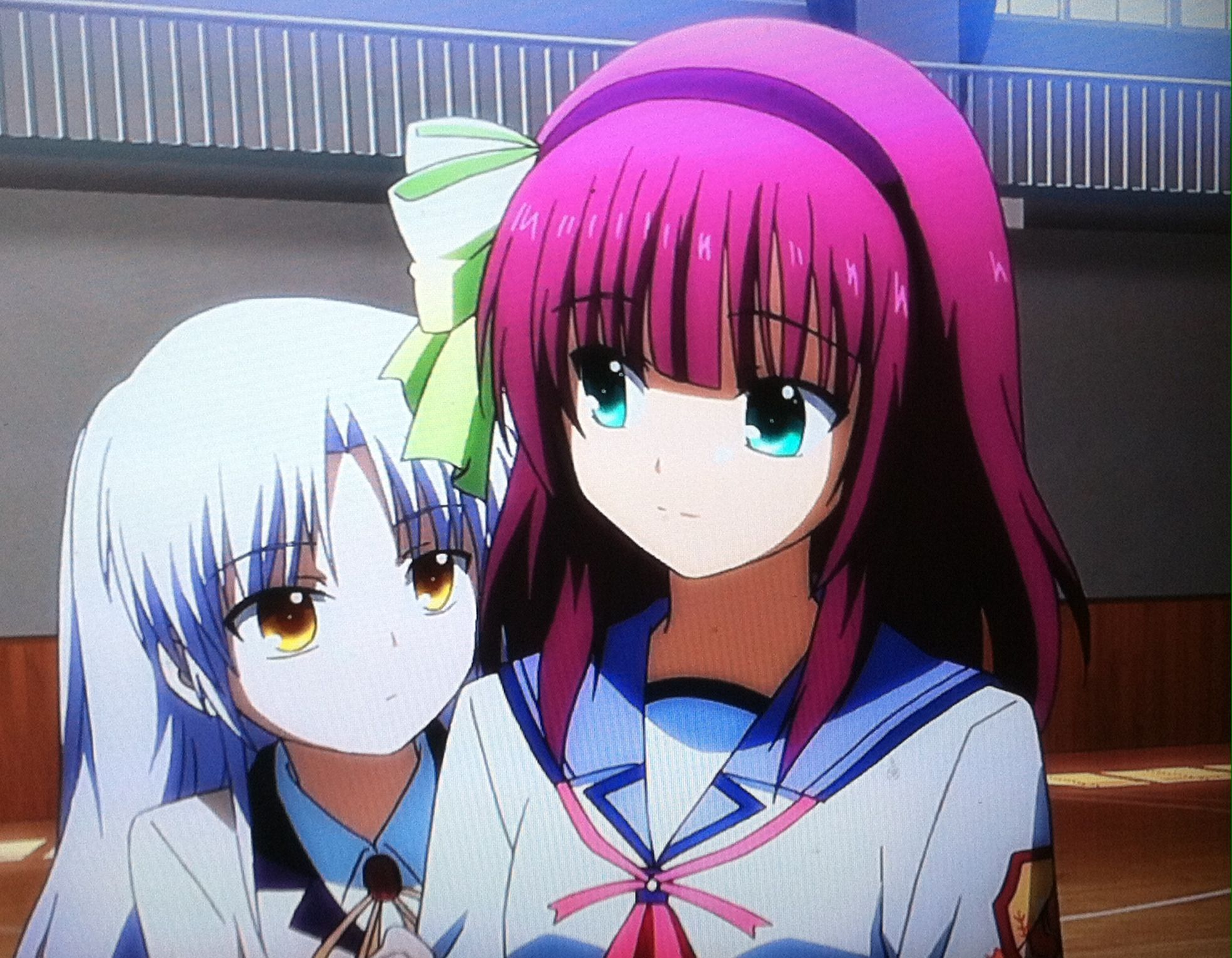 Yuri | Kanade | angel beats | anime | screen shot