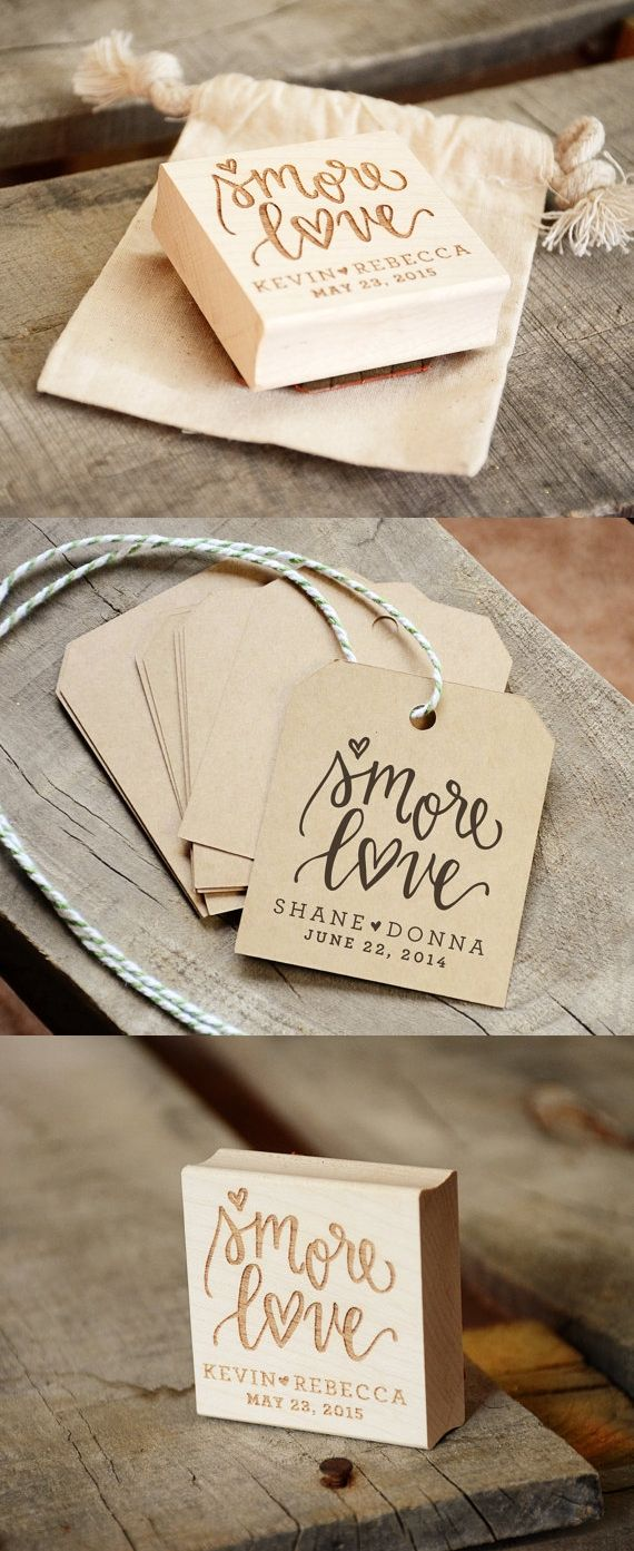 S\'more Love Rubber Stamp | Camping Wedding Idea | S\'mores ...