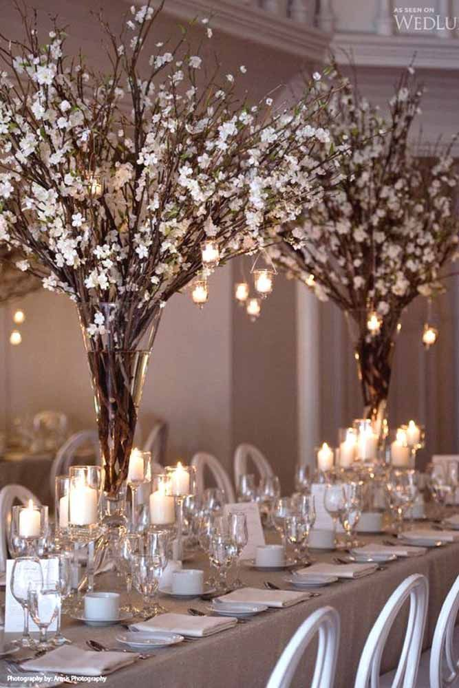 36 Amazing Wedding Centerpieces With Flowers 36 amazing wedding centerpieces with flowers winter