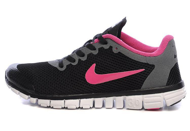 Nike Free 3.0 V2 Womens Blackout Fuchsia Peach | Free run