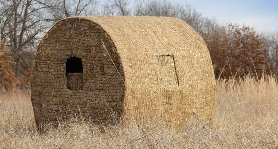Building a diy bale blind can be as easy as you want it to for Inside deer blind ideas