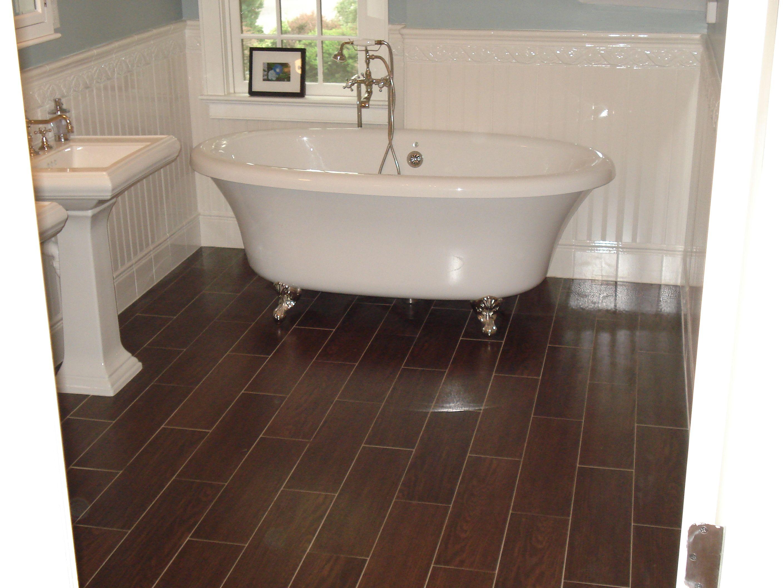Gorgeous Wood Look Tile Floors For Inspiring Bathroom Flooring With