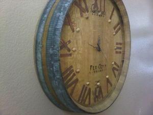 Wine Barrel Clock By Lost In Wonderland Wine Barrel Furniture Wine Barrel Crafts Barrel Furniture