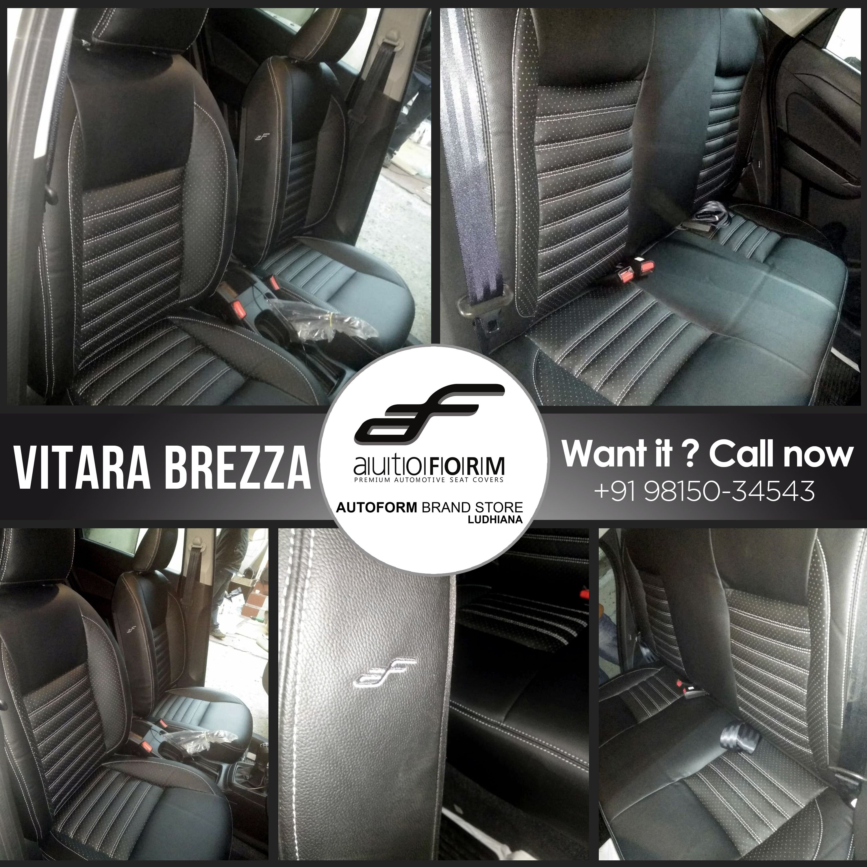 Suzuki Vitara Brezza Is Featured In Black Silver Stitch Riviera