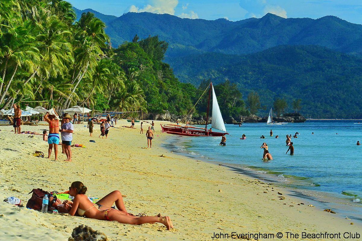 sun bathing at White Beach, Boracay, Philippines. | Boracay Beaches ...