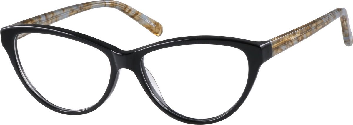 b5a7d71b33 Zenni Womens Cat-Eye Prescription Eyeglasses Black Plastic 4423921 ...