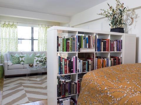 eine kleine wohnung sch n einrichten wand beet. Black Bedroom Furniture Sets. Home Design Ideas