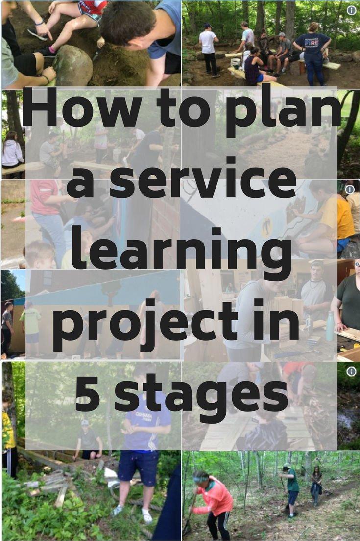 How to plan a service learning project in 5 stages