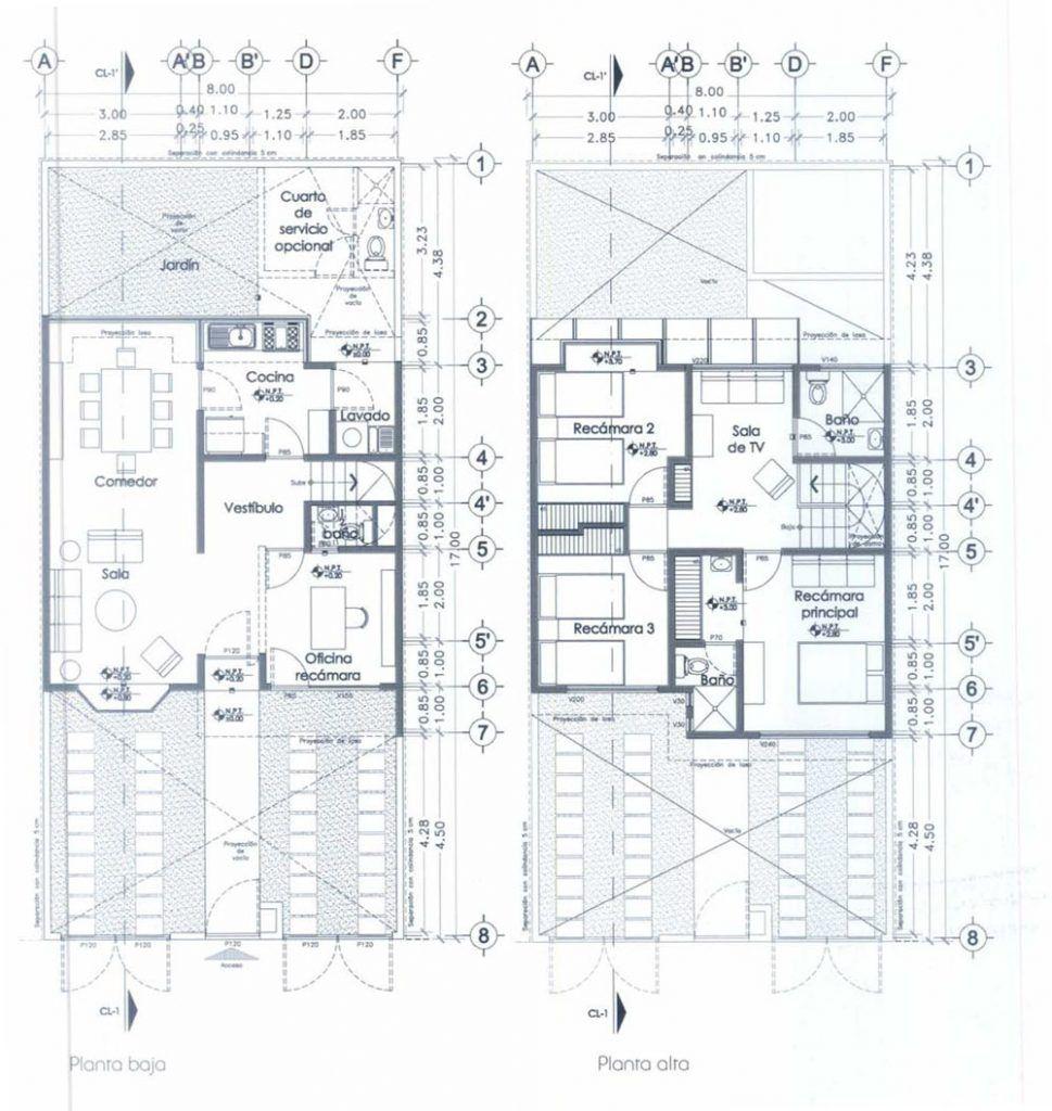 planos de casas habitaciones