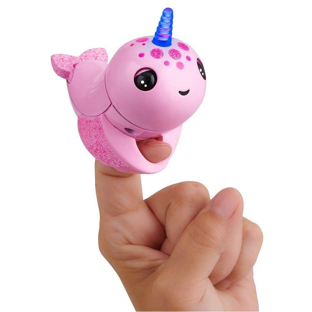 Fingerlings Light Up Narwhal Rachel (Pink) Friendly