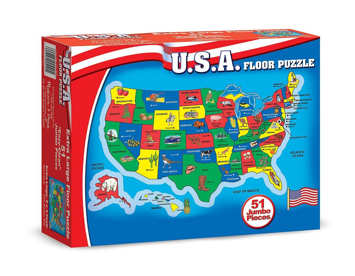states, capitals, geography, toy for 6 year old boy, girl, United ...