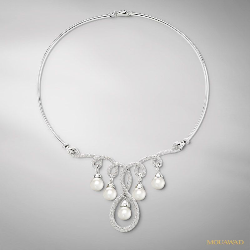 Mouawad Jewelry - Diamond, Pearl, 18k White Gold Necklace