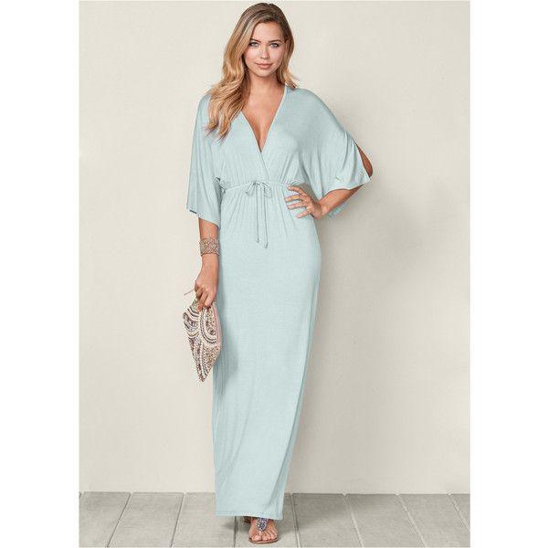 c2897335cb6 Venus Women s Kimono Sleeve Maxi Dress (120 BRL) ❤ liked on Polyvore  featuring dresses