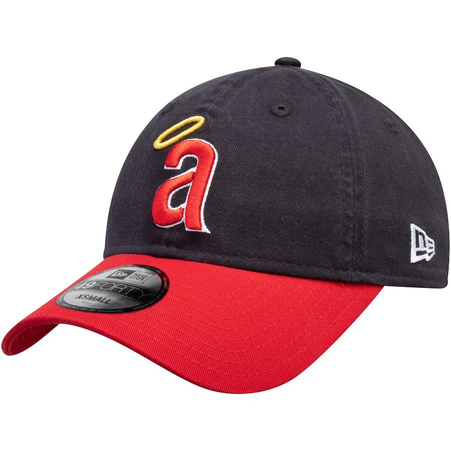 new arrival c9094 6291a Men s California Angels New Era Navy Red 1971 Cooperstown Collection Core  49FORTY Fitted Hat,  27.99