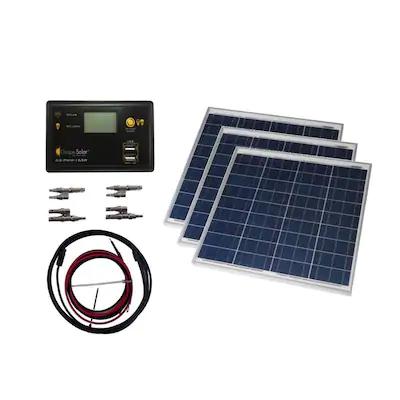 Grape Solar Off Grid Power Kit 12 Volt Portable Solar Power Kit Lowes Com In 2020 Solar Power Kits Solar Energy Panels Best Solar Panels