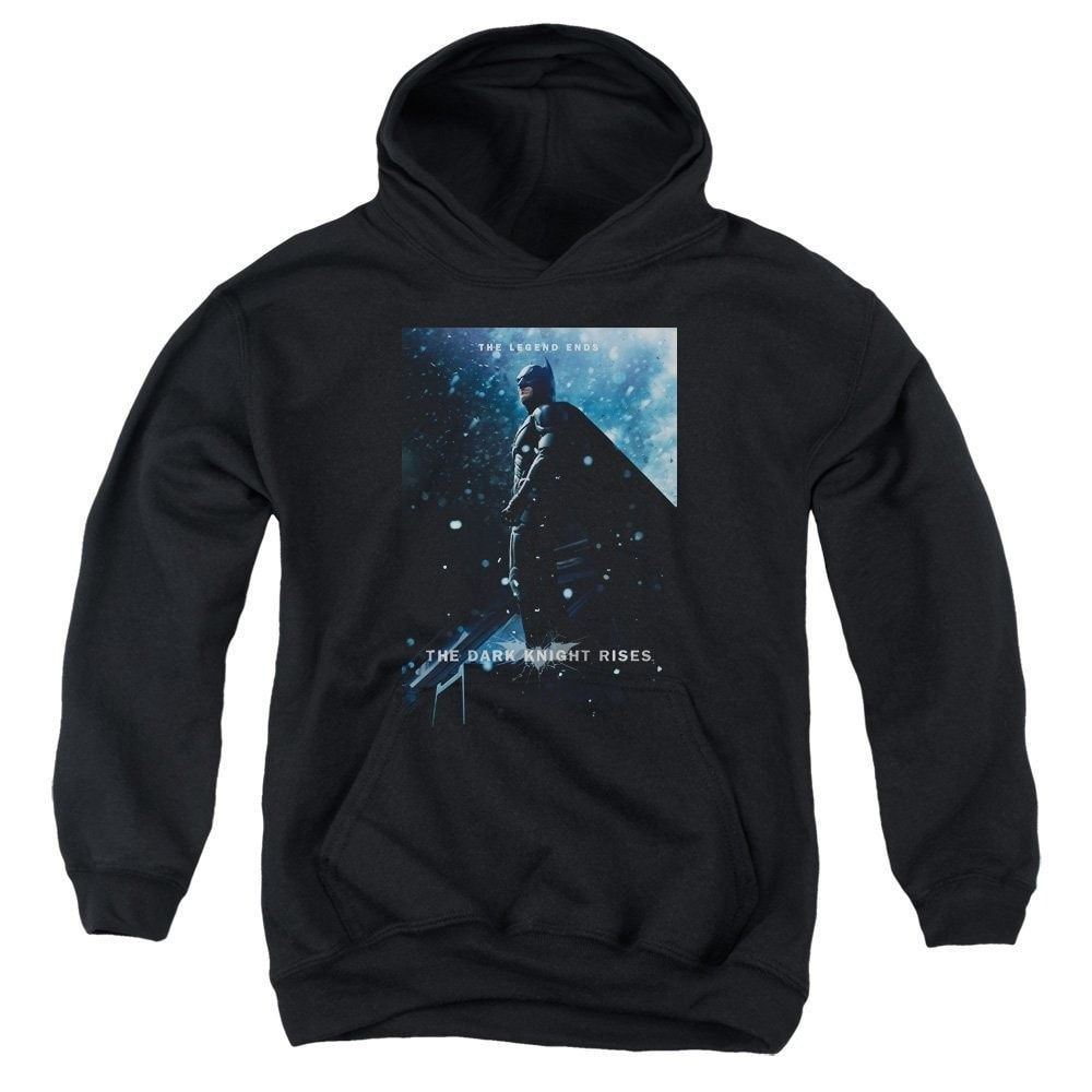 Dark Knight Rises - Batman Poster Youth Pull-Over Hoodie