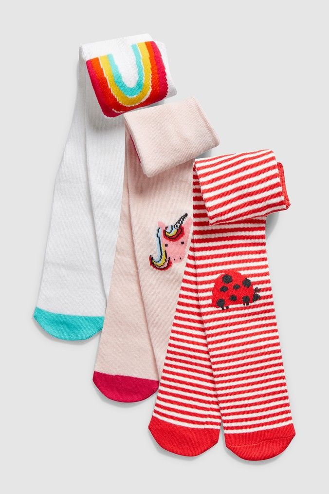 Baby girls 100/% cotton two pack of leggings pink and striped from M/&S