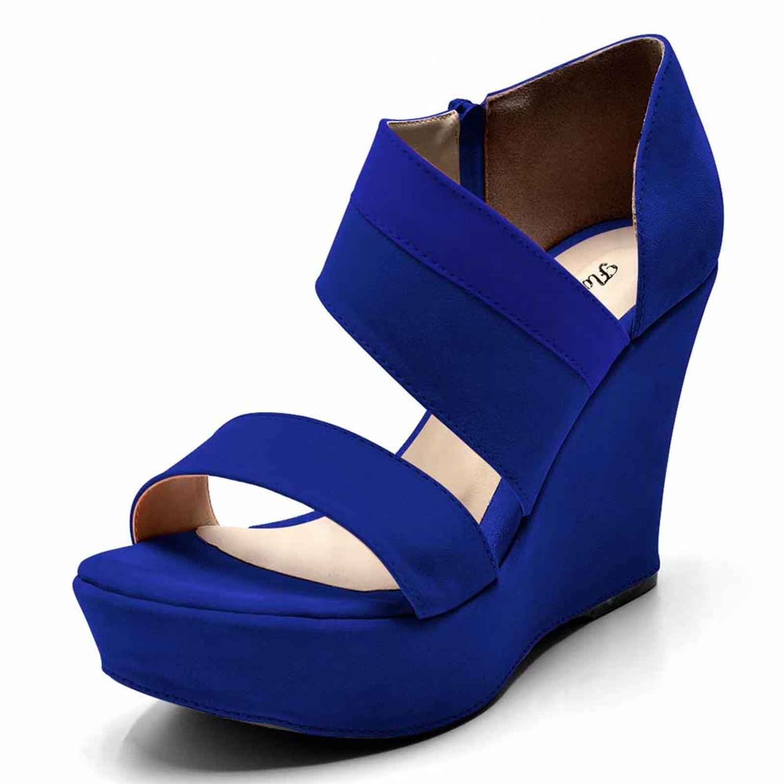 Sandália Plataforma Flor da Pele Azul | Products em 2019