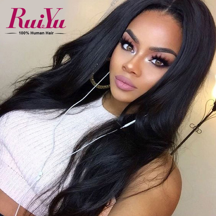 66.96$  Buy now - http://alijek.worldwells.pw/go.php?t=32612767487 - Brazilian Straight Full Lace Human Hair Wigs For Black Women Lace Front Human Hair Wigs Full Lace Front Wigs With Baby Hair