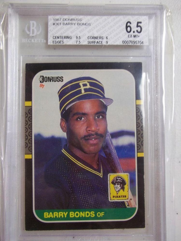 1987 donruss 361 barry bonds rc psa exmt 65 baseball