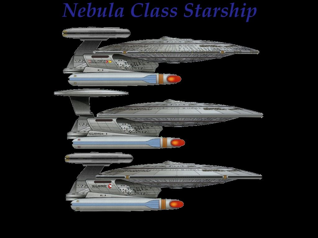 Variants Of The Nebula Class Starship Starboard View